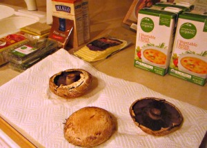 prepping mushrooms