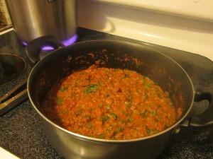 herbs in sauce